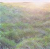 Early Morning on Cleeve Hill by Claire Bergin, Drawing, Pastel on Paper