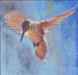Hummingbird by Claire Bergin, Painting, Acrylic on board