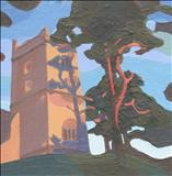 St Bartholomews, Chosen Hill by Claire Bergin, Painting, Acrylic on board